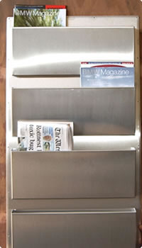 Stainless Steel Newspaper Stand